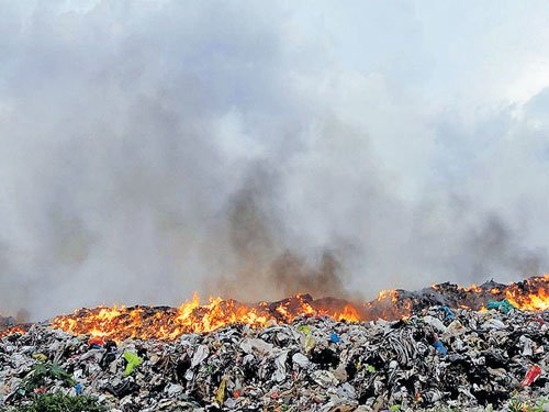 Fire at garbage-processing unit