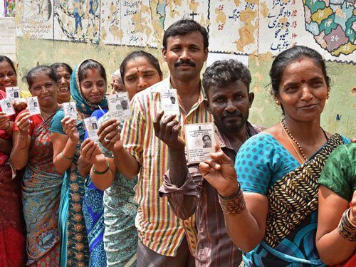 Peaceful polling on for Bengaluru civic corporation