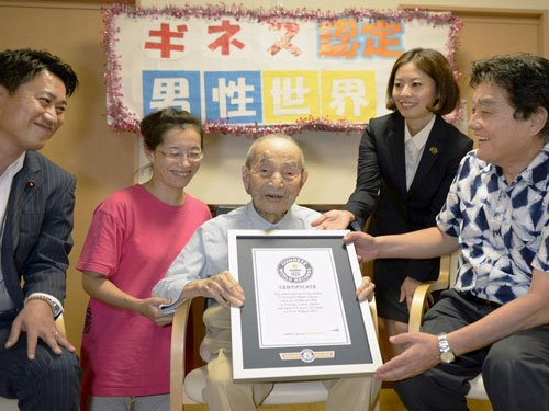 112-year-old Japanese is world's oldest man