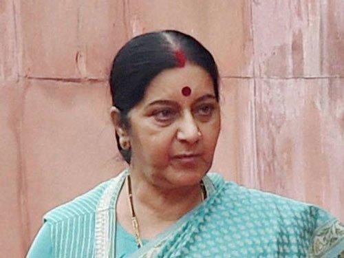 Aziz welcome, but talks only on Ufa agenda: Sushma Swaraj