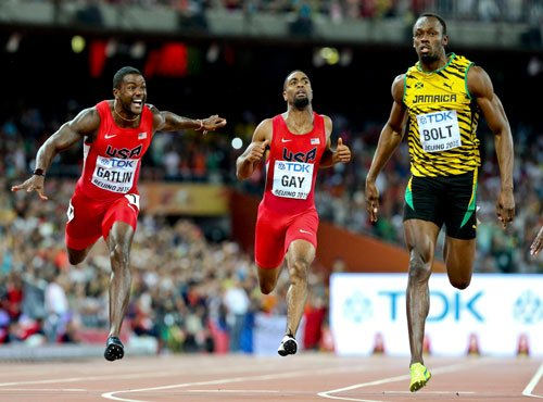 Bolt quashes Gatlin's coup attempt in Beijing