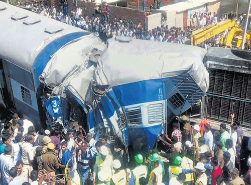Railways cancel two trains, divert 15 due to accident