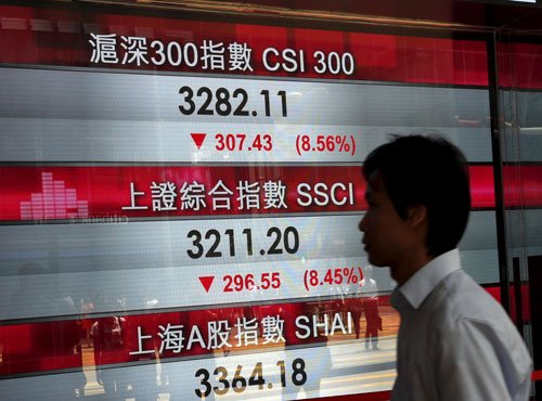 Chinese shares crash for the 2nd day, central bank cuts rates