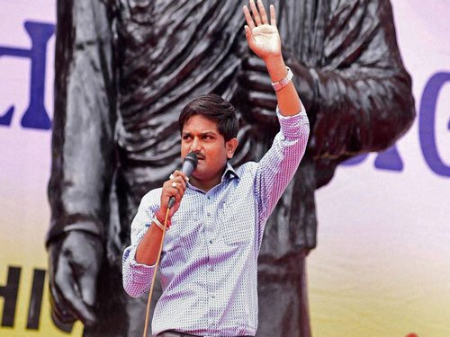 Hardik Patel rules out negotiations, says not against quota