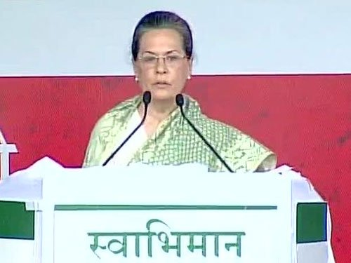 Modi Govt has done nothing other than 'show-baazi': Sonia