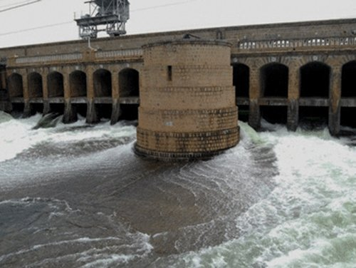 Cauvery water flows quietly to Tamil Nadu