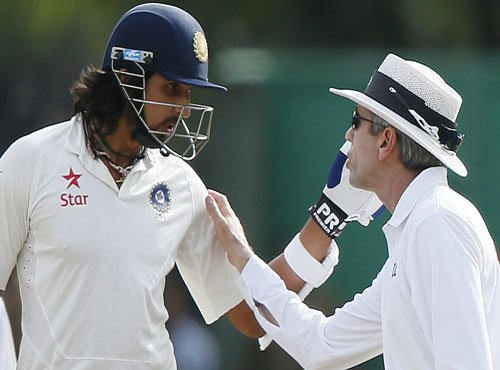 Animated Ishant gets into argument with Lankan players
