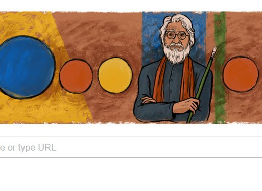 Google's doodle for artist Husain on birth centenary