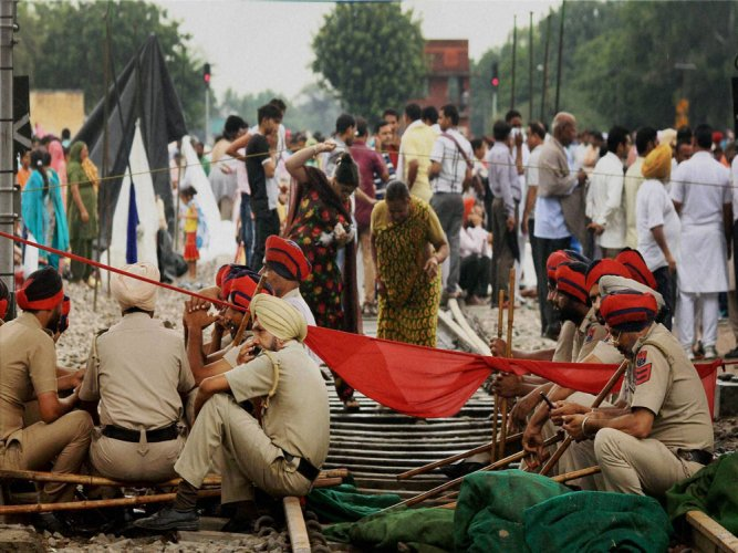 Protests by Dera followers hits rail, road traffic in Punjab