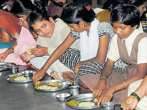 Backward Classes hostellers  now enjoy protein-rich meals