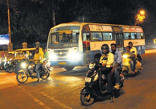 BMTC's night services virtually  non-existent