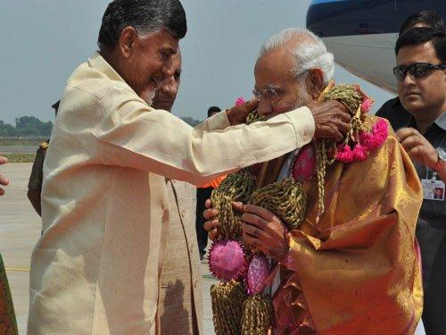 PM lays foundation stone for Andhra capital Amaravati