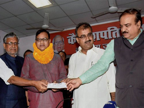 BJP inducts controversial former Nitish minister