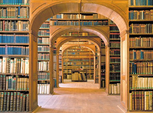 Reinventing the library with books in focus