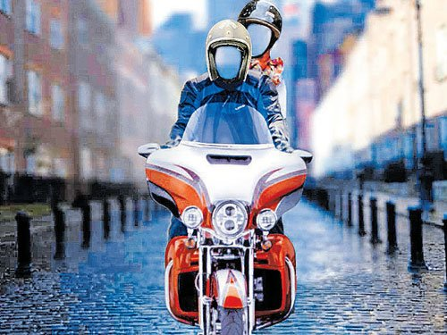 Upload your picture, take a virtual ride on a Harley