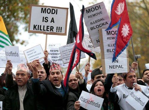 Hundreds protest against Modi's UK visit