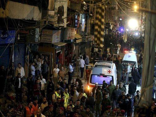 Twin suicide blasts in Beirut's Shiite suburb kill 43