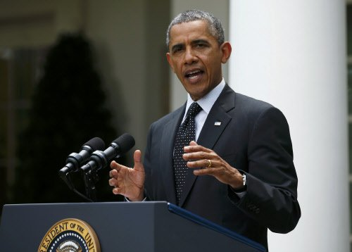 US has 'contained' Islamic State group, Obama says