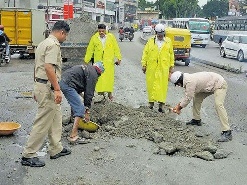 Potholes to get stopgap filling