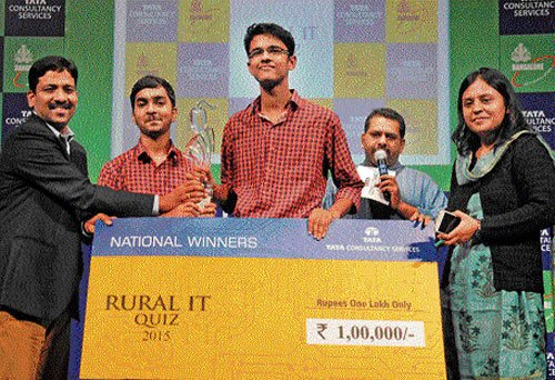 State team wins national-level Rural IT Quiz