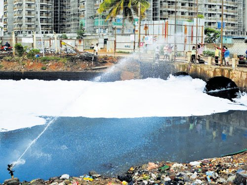 Froth on Bellandur lake brought under control
