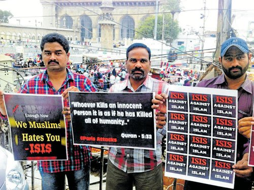 Hyderabad youths rally against IS