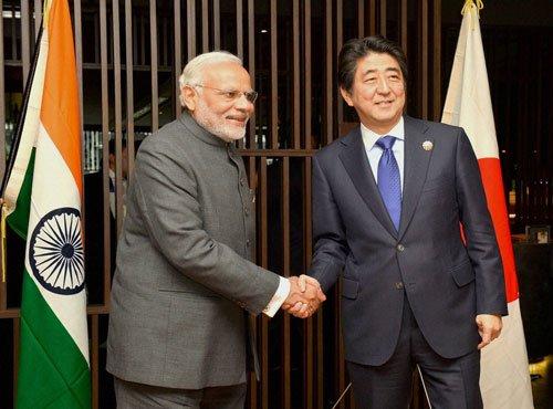 Modi meets Abe; discusses maritime security, SCS disputes