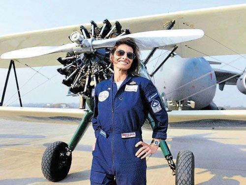 UK flier inspires women pilots to set higher goals