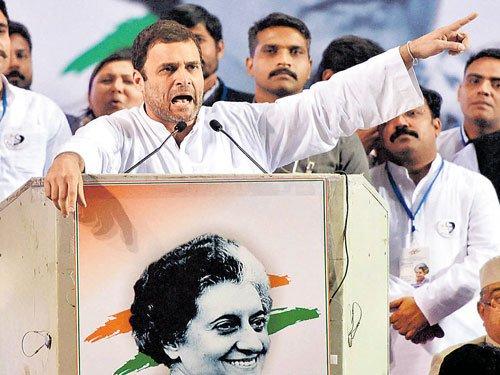 Rahul slams Modi for 'silence' on intolerance