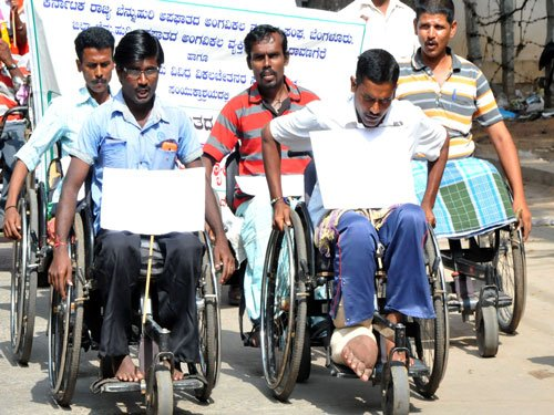 Protest stalls World Disability Day events