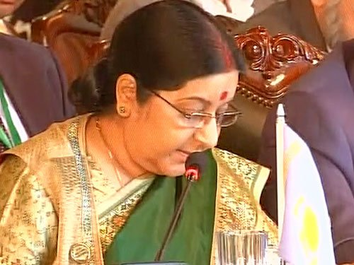 Time for India, Pak to display maturity to do business:Swaraj