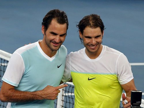 The Rafa-Roger show behind the mike