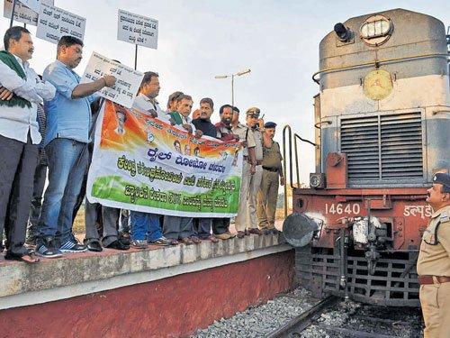 Protest demanding loan waiver