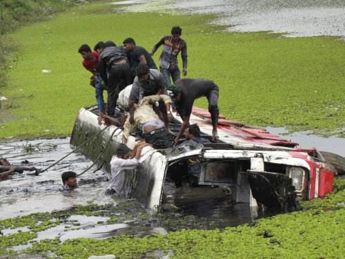 15 killed; 38 hurt as bus plunges into river in MP