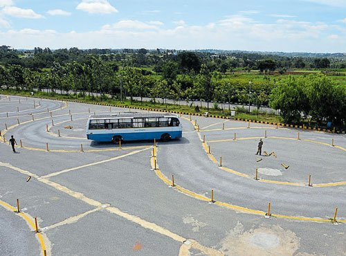 BMTC drivers trained on electric tracks to prevent road accidents