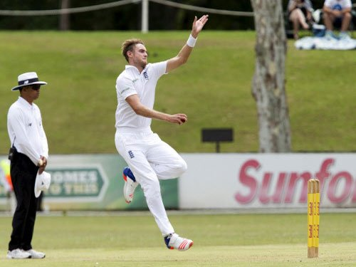 Broad strikes back for England