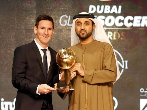 Messi wins best player of Globe Soccer Awards