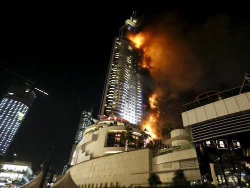 Huge fire erupts at Dubai hotel, site of New Year celebrations