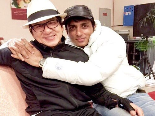 Jackie Chan gifts jacket to Sonu Sood