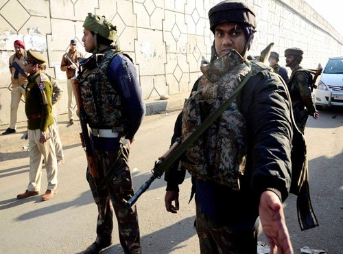 2 terrorists holed up in Pathankot airbase, say officials