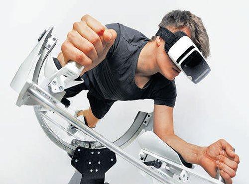 VR gym provides a virtual experience