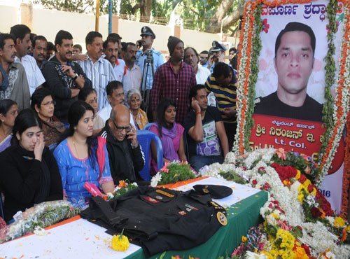 Lt Colonel Niranjan laid to rest with full state honours