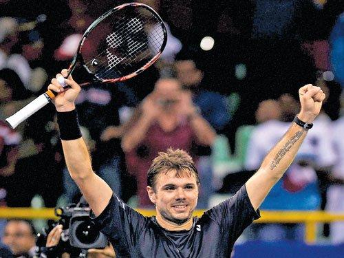 Wawrinka blasts his way to third title
