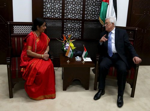 Swaraj holds talks with Palestinian counterpart