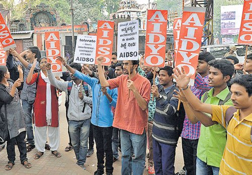 Protests erupt over Dalit research scholar's suicide