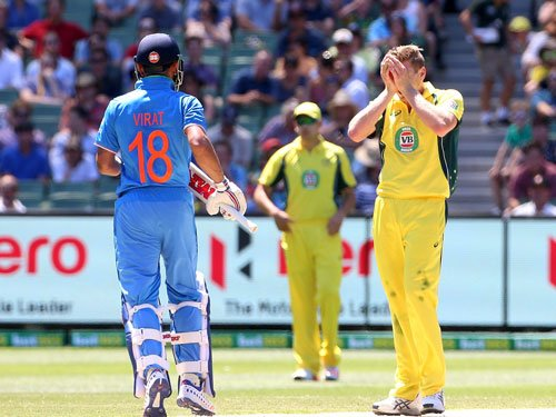 Faulkner misses run-out, Virat Kohli asks why are you 'fast asleep'