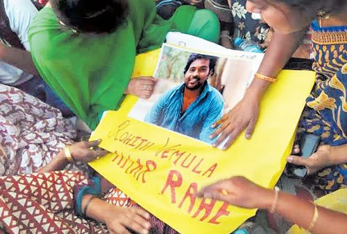 Student's suicide: No let up in protest at Hyderabad varsity