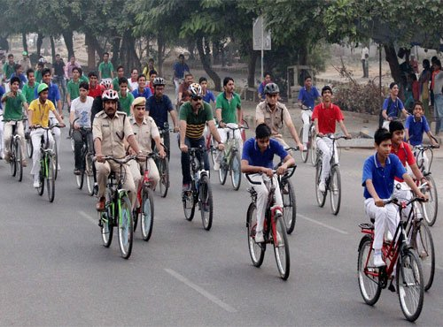Fourth car free day observed in Delhi