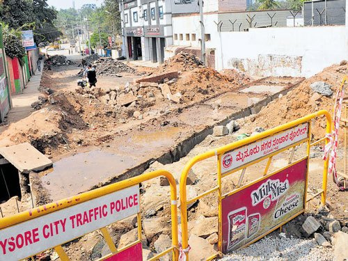 Road repair works leave motorists unsettled