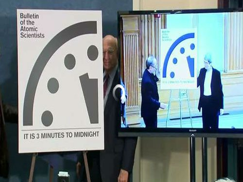 'Doomsday' clock remains at three mins to midnight